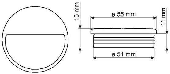 Ручка врезная GIFF MD6104 хром