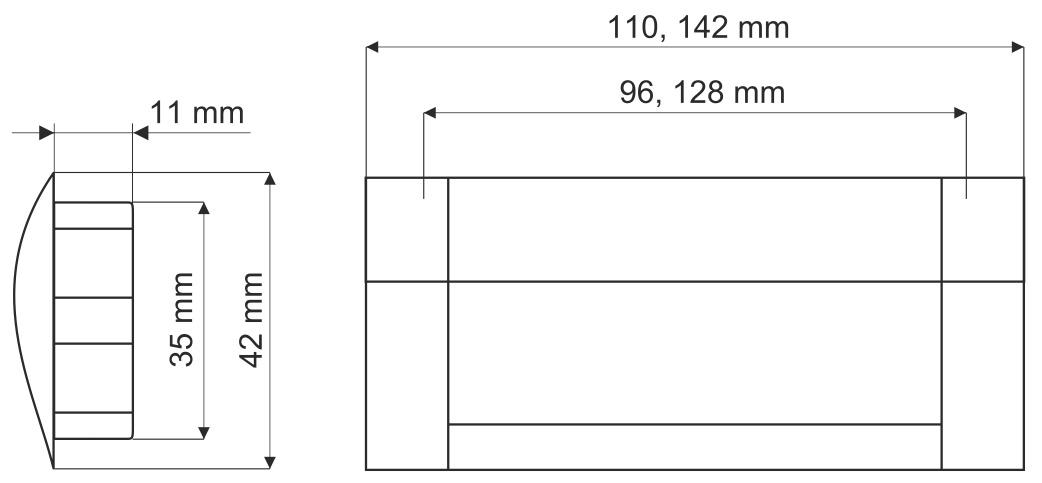 Ручка врезная GIFF UA08/C00/04/128 хром/алюминий