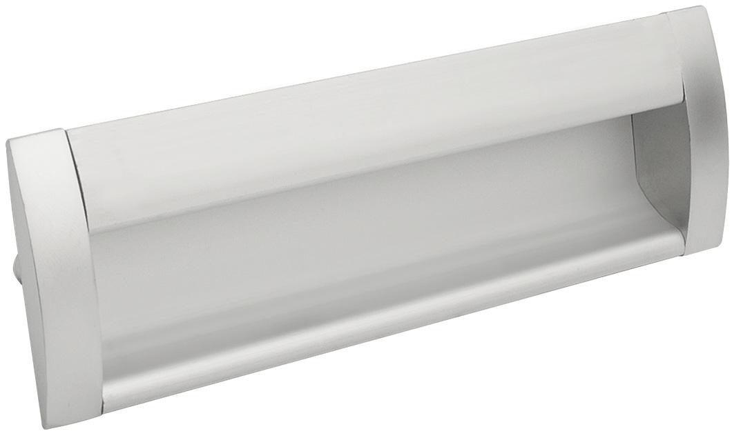Ручка врезная GIFF UA08/C00/08/128 матовый хром/алюминий