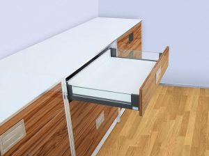 Выдвижной ящик со стеклянными боковинами Giff FlatBox