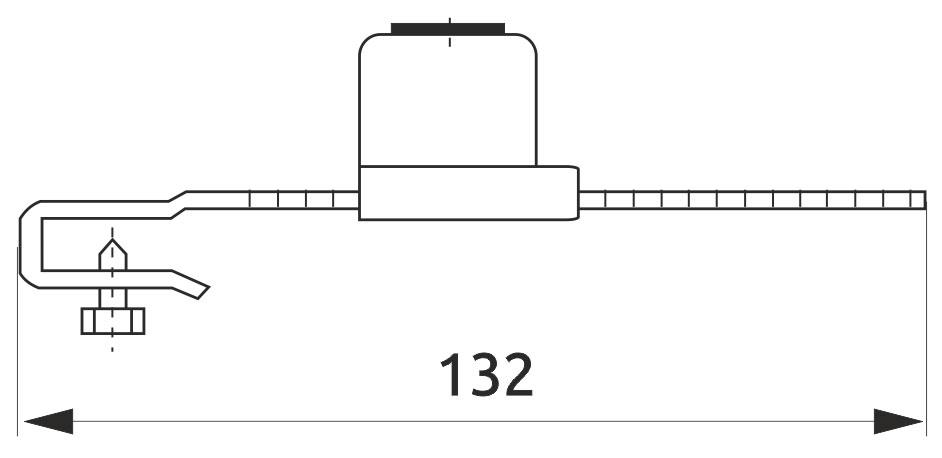 Замок мебельный для раздвижных стекляных дверей Giff 328 L=130 хром