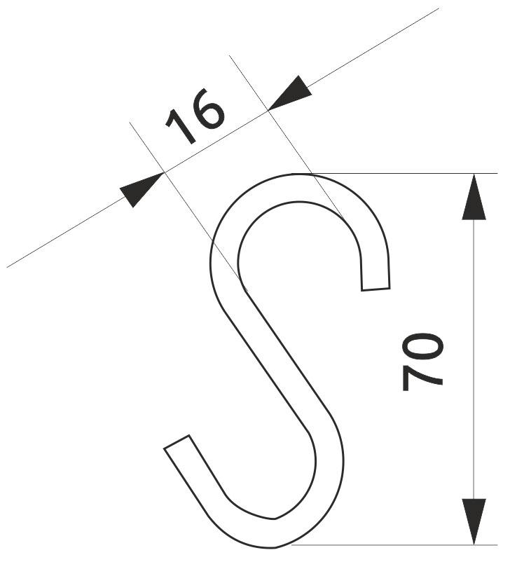 Крючок трубы-рейлинга Giff d=16 хром