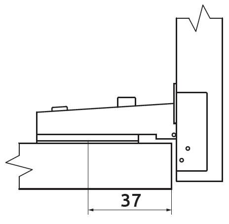 Петля накладная без пружины Slide-on Giff Т1 d=35 Н=0 никель