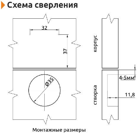 Петля накладная с доводчиком Clip-on Giff d=35 H=0 никель