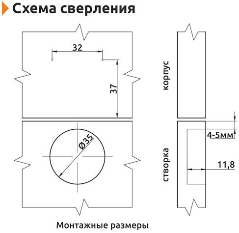 Петля накладная с доводчиком Slide-on Giff 135* d=35 Н=0 никель