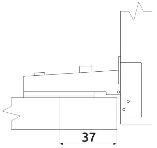 Петля накладная Slide-on Giff Т1 d=35 Н=0 никель