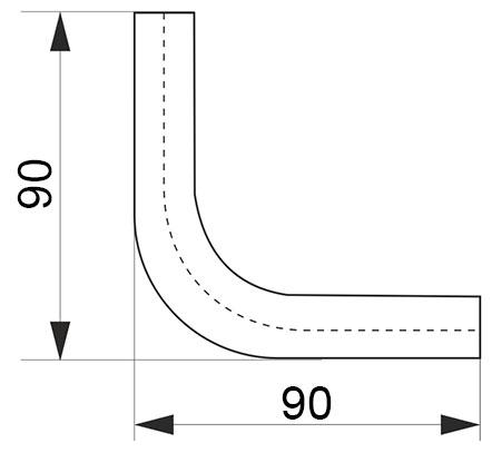 Угол соединительный трубы-рейлинга d=16 90* хром