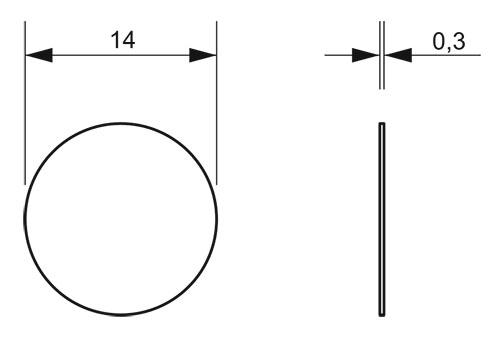 Заглушка конфирмата самоклеющаяся Weiss D=14 (в ассортименте)