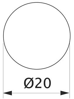 Заглушка минификса самоклеющаяся Weiss d=20