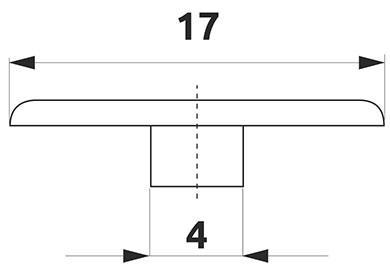 Заглушка минификса Giff d=17 (в ассортименте)