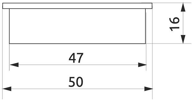 Заглушка трубы d=50 Giff R-17 хром