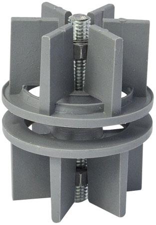 Крепление коннектор трубы d=50 Giff серый