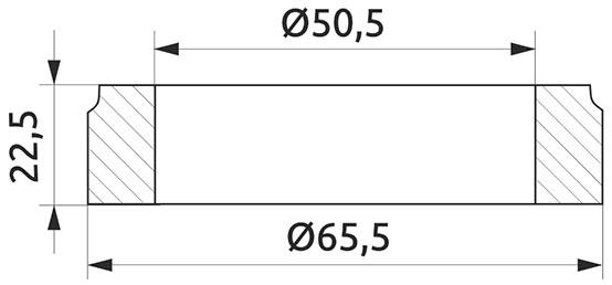 Крепление полки к трубе d=50 промежуточное Giff хром