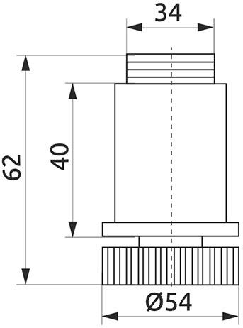 Опора регулируемая трубы d=50 Giff черный