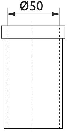 Опора трубы d=50 верхняя регулируемая Giff хром