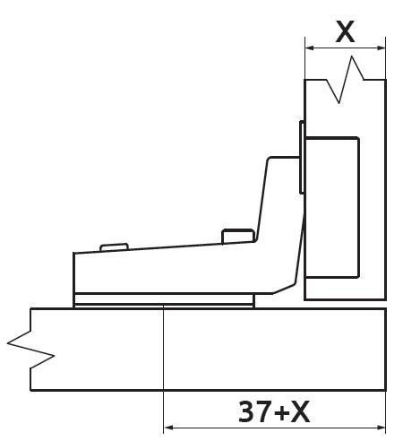 Петля вкладная без пружины Slide-on Giff Т1 100° d=35 H=0
