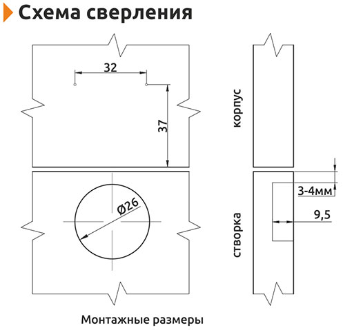 Петля вкладная (мини) Slide-on Giff d=26 Н=0 никель