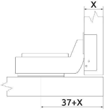 Петля вкладная с доводчиком Clip-on Giff d=35 H=0 никель