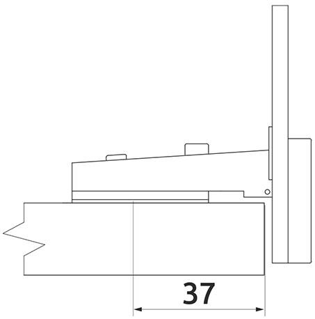 Петля накладная для стекла Slide-on Giff d=26 Н=0