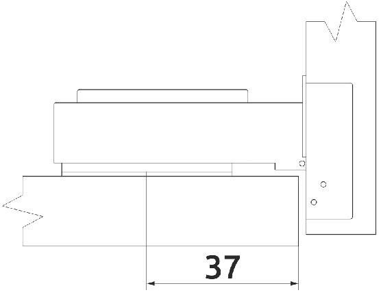 Петля накладная с доводчиком Clip-on Giff 100° d=35 H=0