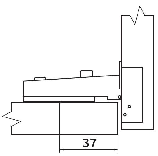 Петля накладная с усиленной монтажной планкой Slide-on Giff Т1 d=35 H=0