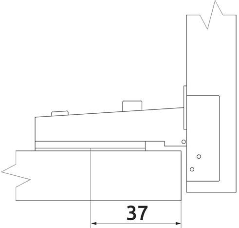 Петля накладная Slide-on Giff Т1 100° d=35 H=0