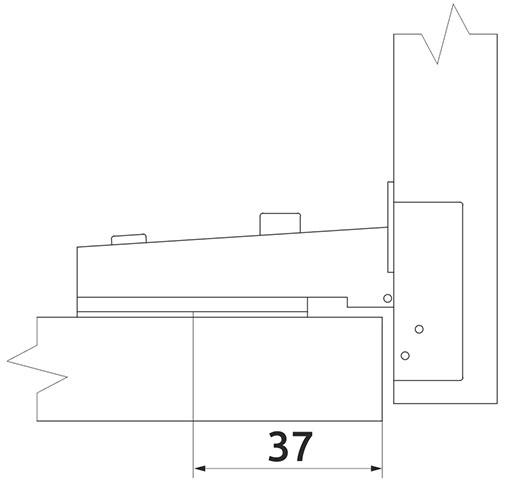 Петля накладная Slide-on Giff Т2 d=35 H=0