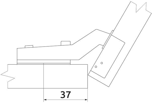 Петля накладная Slide-on Giff 120° d=35 H=0
