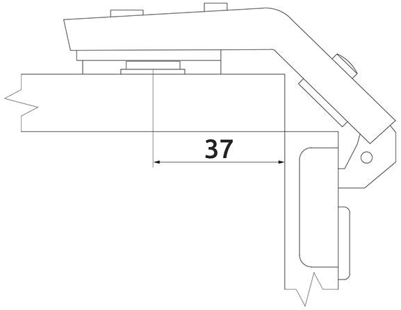 Петля накладная Slide-on Giff 25° + 90° d=35 H=0