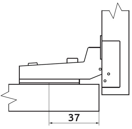 Петля полунакладная без пружины Slide-on Giff Т1 100° d=35 H=0