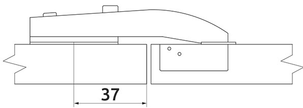 Петля равнолежащая Slide-on Giff d=35 H=0