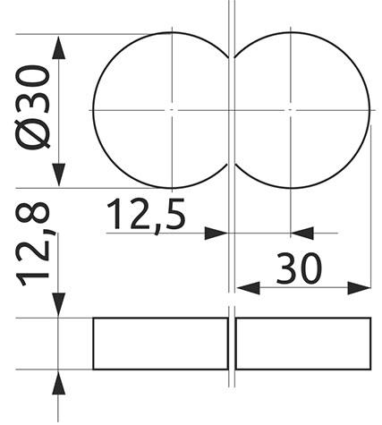 Петля специальная барная Giff 180°