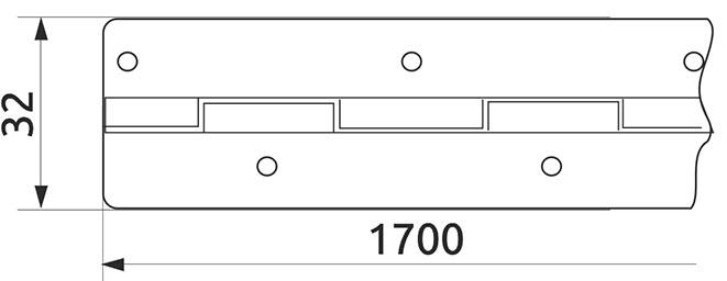Петля специальная рояльная Milax L=1700