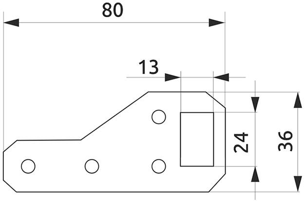 Подвеска для шкафов металлическая Giff