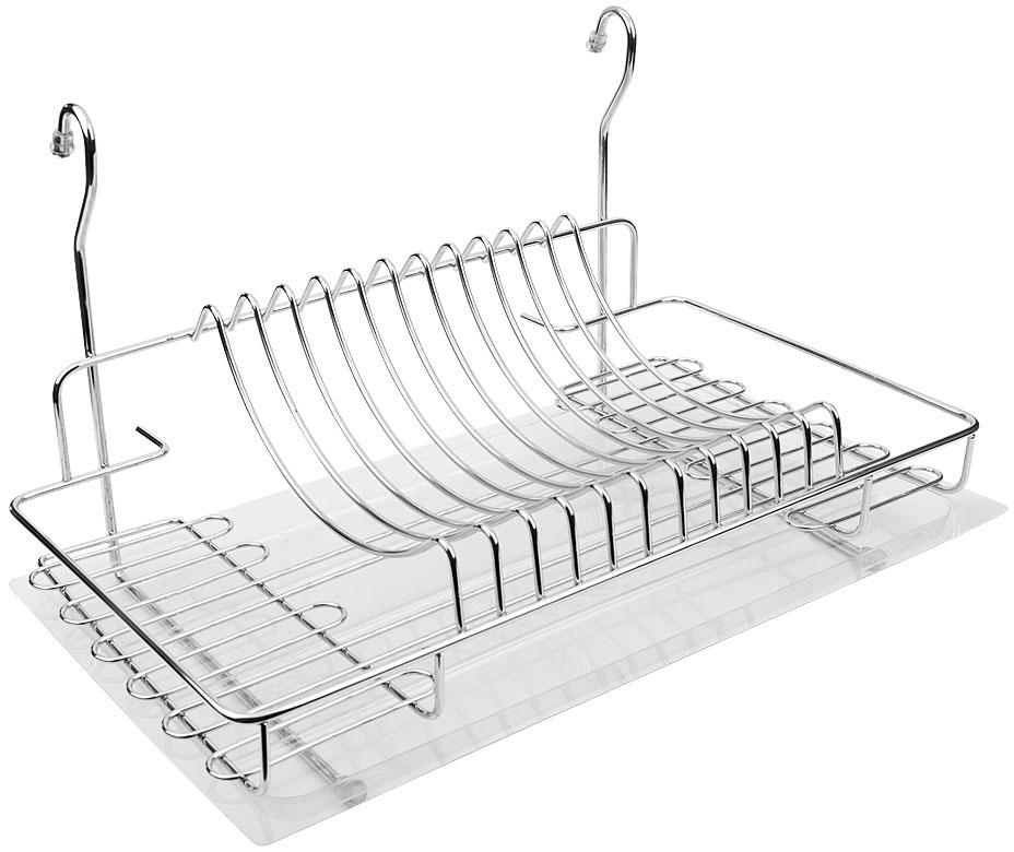Полка к рейлингу d=16 для посуды Giff хром