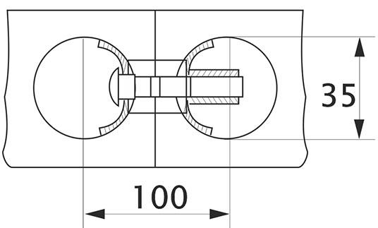 Стяжка столешницы Goff L=100