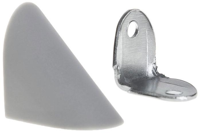 Уголок мебельный одинарный металлический с пластиковой заглушкой Z-02 Giff (в ассортименте)