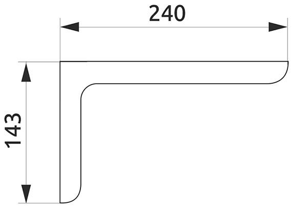 Консоль декоративная Giff L=120 хром