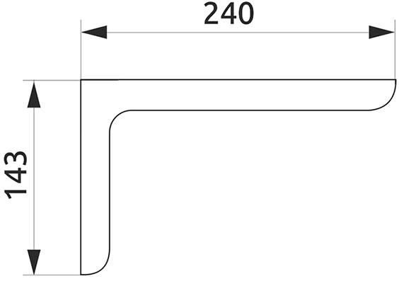 Консоль декоративная Giff L=120 темно-коричневый