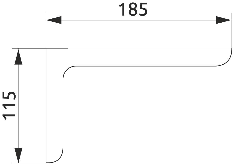 Консоль декоративная Giff L=180 темно-коричневый