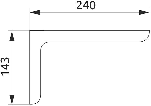 Консоль декоративная Giff L=240 белый