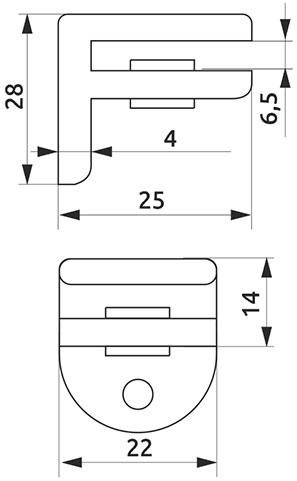 Крепление для стеклянной полки Giff MP4004 хром