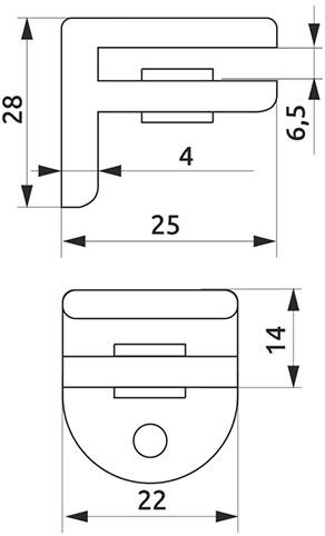 Крепление для стеклянной полки Giff MP4006 сатин