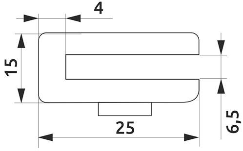 Крепление для стеклянной полки Giff MP5006 сатин
