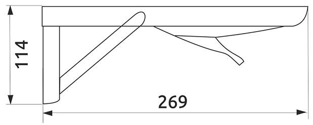 Механизм для откидного стола хром (2 шт)