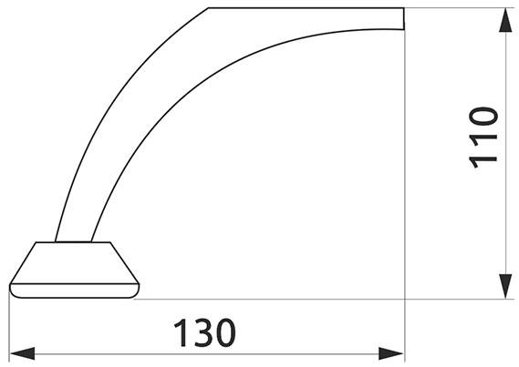 Опора нерегулируемая изогнутая GIFF NZ0704 Н=110 t=1,0 хром