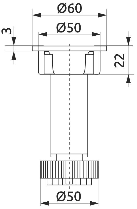 Опора регулируемая для кухонного стола Giff Н=100