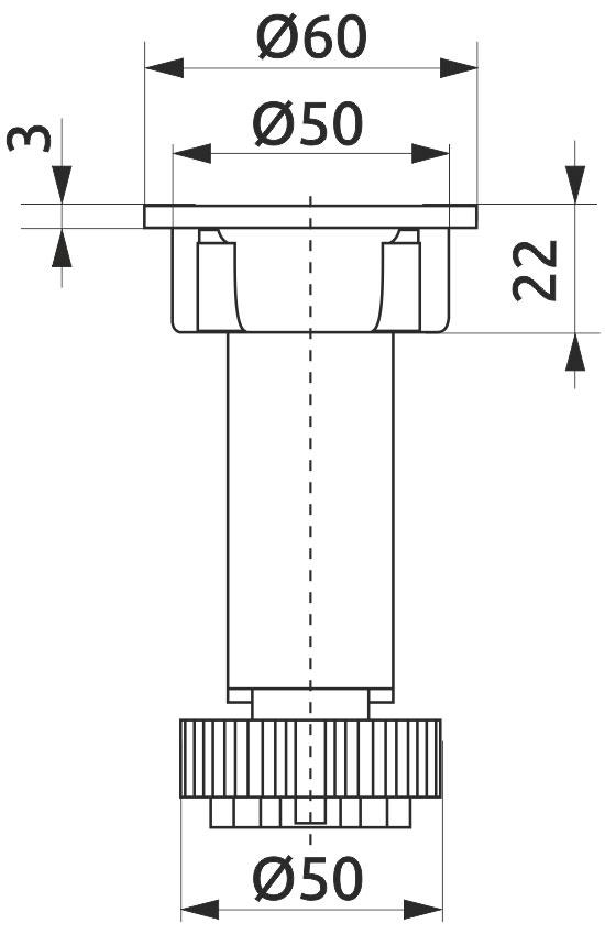 Опора регулируемая для кухонного стола Giff Н=150