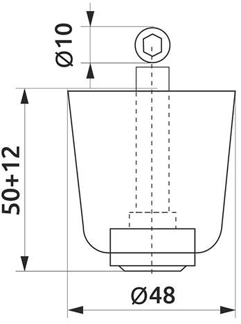 Опора регулируемая полукруглая Giff Н=50 черный