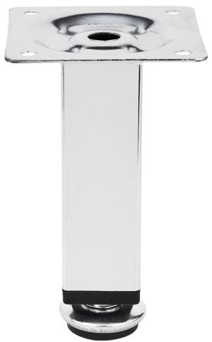 Опора регулируемая прямоугольная Giff Quadro 25/100 хром